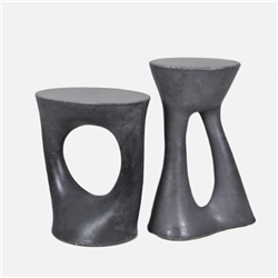 s Charcoal Kreten Stool / Side Table