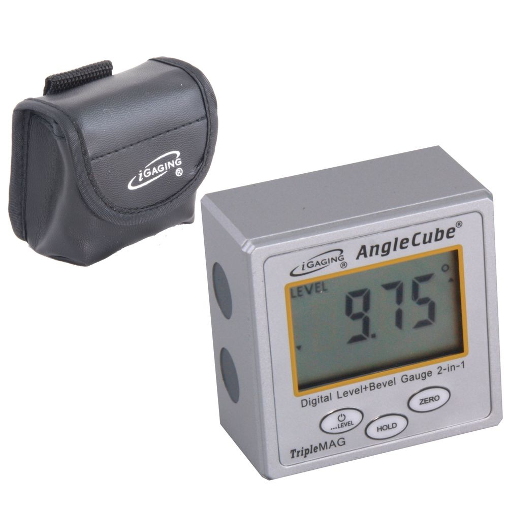 Digital Magnetic Angle Cube Gage Gauge Level Table