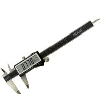 Digital Caliper Inch/Metric/Fractional EzCal w/Super Large Display