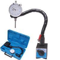 "MAGNETIC BASE FLEXIBLE FLEX ARM .001"" DIAL INDICATOR +CASE Machinist Auto Tools"