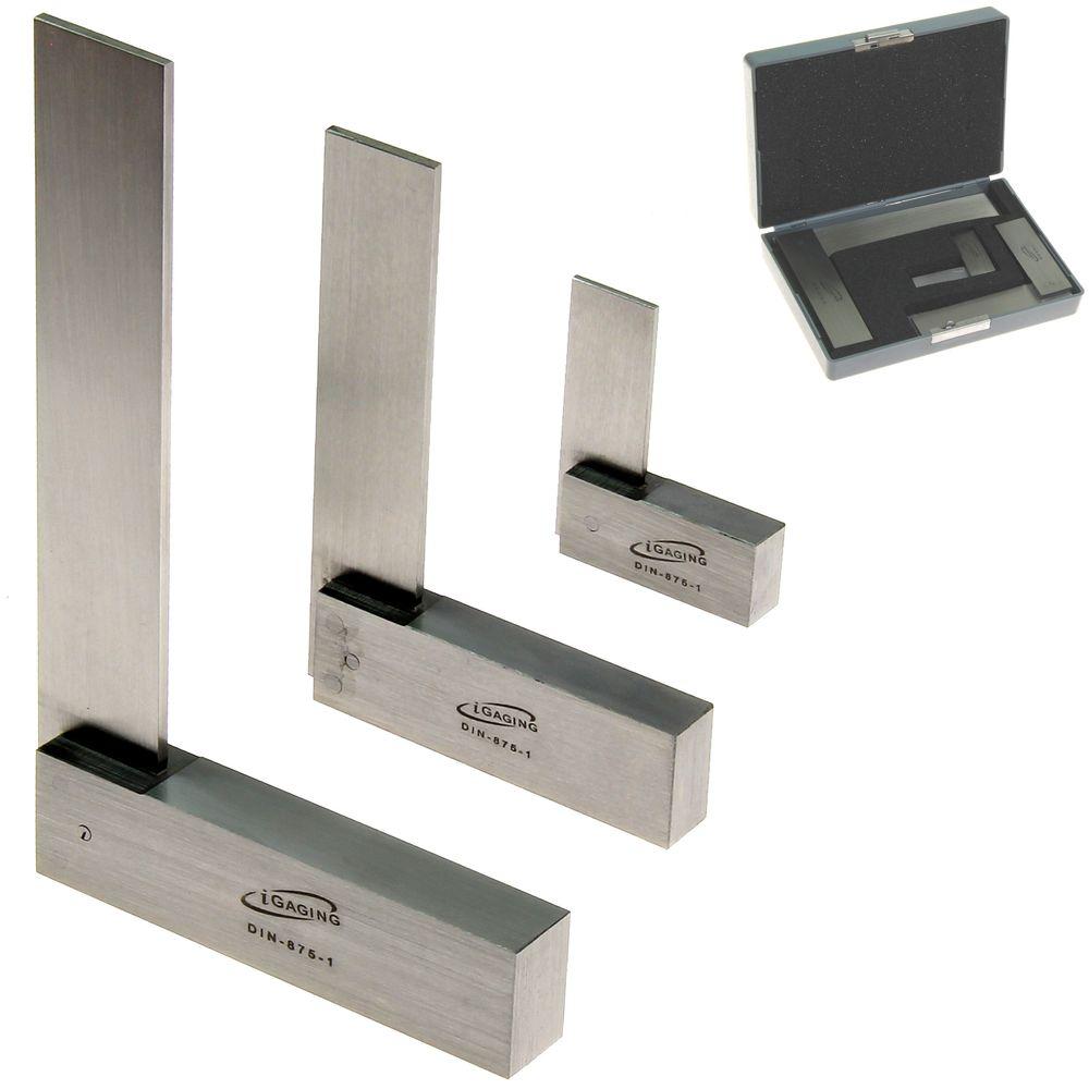 3 pc machinist square set precision hardened steel rh igagingstore com precision squares for sale precision squares tools