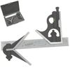 "3 piece 6"" Precision Combination Square and Center Finder Head 4R Blade"