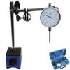 "DIAL INDICATOR 1""/0.001"" LONG RANGE +80 lbs MAGNETIC BASE FINE ADJUSTMENT +CASE"
