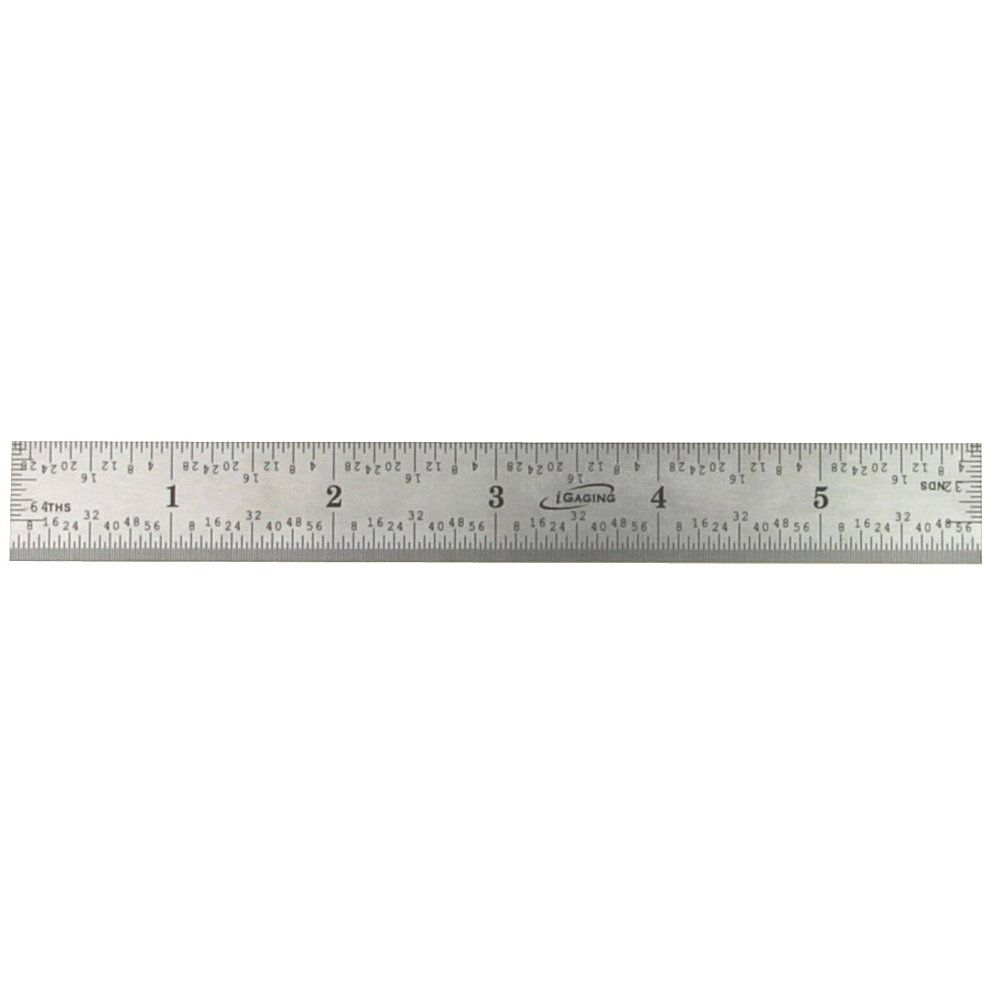 6 Quot Stainless Steel Ruler 4r Rule Scale Machinist E