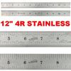 "12"" Ruler STAINLESS STEEL 4R Rule Scale Machinist Engineer 1/18 1/16 1/32 1/64"