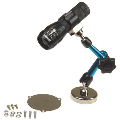 ZoomFlex HIGH INTENSITY CREE LED ZOOM LIGHT 300 Lumens w/ 3-D 2 Arm Adjustable Magnetic Base and Universal Mounting Plate
