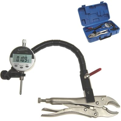 "Flxible Arm Grip Clamp Vise Plier w/ 1"" Electronic Digital Indicator"
