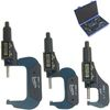 "0-3"" Digital Electronic Outside Micrometer Set 0-1"", 1-2"", 2-3"" Large LCD"
