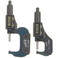 "iGaging 2 pc 0-1"", 1-2"" (0-2"") Digital Electronic Outside Micrometer w/Large LCD Display Inch/Metric"