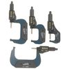 "iGaging 4 pc 0-1"", 1-2"", 2-3"", 3-4"" (0-4"") Digital Electronic Outside Micrometer w/Large LCD Display Inch/Metric"