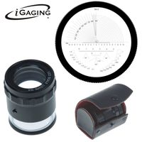 Stand Measuring Magnifier Loupe 10X w/Scale LED Lighted Illuminated