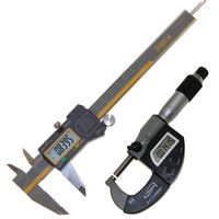 "Electronic Caliper 6"" ABSOLUTE ORIGIN + 1"" Hybrid Micrometer Precision"