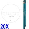 "Pocket Scope Magnifier Scale 20X Magnification Microscope Scale Range 0-0.18"" 0.19"" Field of View"