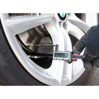Brake Rotor Gauge Wheels On Large Digital Electronic Display Caliper