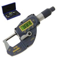 "1"" Digital Quick Micrometer Absolute Origin SpeedMic Snap Lever Action Gage IP65 Coolant Proof"