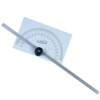 "2-In-1 6"" 180 Degree Steel Protractor + Depth Gauge"