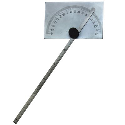 "Square Head Protractor 6"" Stainless Steel Bevel Setting w/ Protective Pouch"