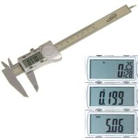 "Electronic Digital Caliper 0-6"" Display Inch/Metric/Fractions Polycarbonate Body"