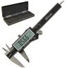 "4"" Digital Caliper Inch/Metric/Fractional EzCal w/Super Large Display"