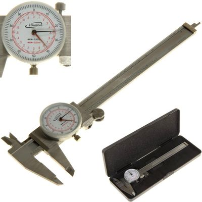 "Dial Caliper 6"" / 150mm DUAL Reading Scale METRIC SAE Standard INCH MM"
