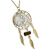 "Buffalo Nickel Gold Tone Dream Catcher Pendant with Tiger Eye Stone with 24"" Chain"