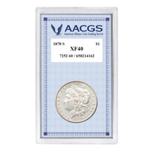 "1878S ""First-Year-of-Issue"" Morgan Silver Dollar, Graded XF40"