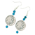 Buffalo Nickel Turquoise Coin Earrings Coin Jewelry