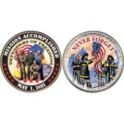 Mission Accomplished Coin - Defenders of Freedom Coin