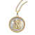 Selectively Gold-Layered Silver Walking Liberty Half Dollar Rope Coin Pendant Coin Jewelry