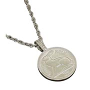 Lucky Rabbit Coin Pendant