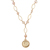 Gold Layered Silver Mercury Dime Pearl Necklace