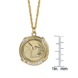 Gold-Layered Hummingbird Coin Pendant