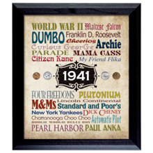 A Year In Time Celebration Wall Frame Collection