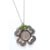 Irish Threepence Four Leaf Clover and Green Heart Charm Pendant