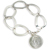 Silver Standing Liberty Coin Sterling Silver Oval Link Bracelet