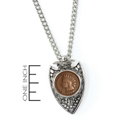1800s Indian Cent Arrowhead Men's Pendant