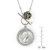 Lucky British Sixpence and Rose Toggle Pendant