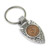 Civil War Coin Arrowhead Keyring