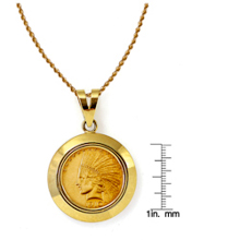 $10 Indian Head Gold Piece Eagle Coin in 14k Dome Shape Bezel