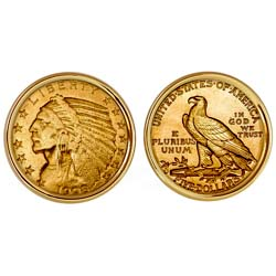 $5 Indian Head Gold Piece Half Eagle Coin Cuff links