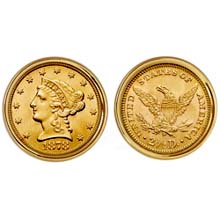 $2.50 Liberty Gold Piece Quarter Eagle Coin Cuff links