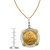 French 20 Franc Lucky Angel Gold Piece Coin in Sterling Silver & 14k Gold Bezel