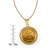 French 20 Franc Lucky Angel Gold Piece Coin in 14k Gold Rope Bezel