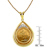 French 20 Franc Lucky Angel Gold Piece Coin in 14k Gold Teardrop Pendant w/Diamonds