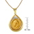 King George V Gold Sovereign Coin in 14k Gold Teardrop Pendant w/Diamonds
