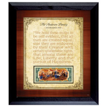 Personalized Established Family Declaration $2 Frame