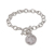 Sterling Silver Mercury Dime Toggle Bracelet