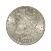 1885CC Morgan Silver Dollar in Fine Condition (F15) Graded by AACGS