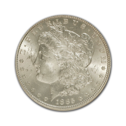1885O Morgan Silver Dollar in Fine Condition (F15) Graded by AACGS