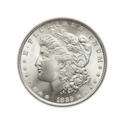 1889O Morgan Silver Dollar in Fine Condition (F15) Graded by AACGS